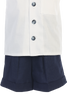 Boys Navy Blue Linen Blend Shorts & Shirt Dressy Set 3m-4T