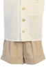 Khaki Tan Linen Blend Shorts & Shirt Set 2 Piece Dresswear Outfit (Baby or Toddler Boys)