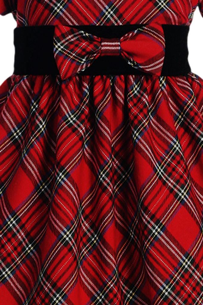 9ff3d136c04f Red & Green Plaid Girls Holiday Dress w. Velvet Trim 4-12 – Rachel's ...