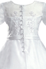 Beaded Satin & Bridal Back Buttons Satin & Organza First Holy Communion Dress (Girls Size 7 to 14)