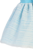 Light Blue Striped Organza Overlay Easter Spring Dress w Satin Sash (Baby 3 Months - Girls Size 10)