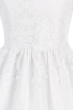 Floral Damask Lace Girls Communion Dress w. Sheer 3/4 Sleeves  SP139