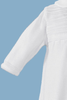 Boys 100% White Cotton Knit Coveralls w. Long Sleeves  CKNIT1