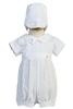 Woven Cotton 2-in-1 Convertible Christening Gown & Romper  Mason