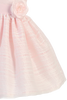 Girls Light Pink Striped Organza Overlay Dress w Satin Sash 3M-10