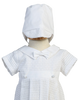 3 Pc Boys Christening Gown & Romper with Button on Skirt (Mason)