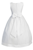 Satin First Holy Communion Dress w Organza Overlay & Bolero Jacket (SP970)