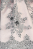 Pink Shantung & Silver Embroidered Tulle Girls Holiday Dress w. Sequins  C992