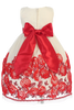 BACK OF RED & IVORY DRESS (C988)