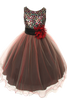 Red & Black Sequins & 3 Layers of Tulle Dress Girls (KD327)