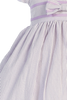 Girls Lilac Cotton Seersucker Dress w. Navy Trim 3m-7