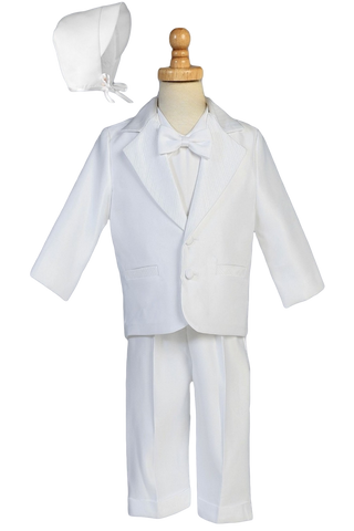 Dinner Jacket Tuxedo 4 Pc Suit Satin Christening Outfit (8860)