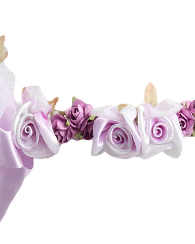 Lilac silk floral crown wreath w satin ribbons girls rachels promise lilac silk floral crown wreath w satin ribbons girls hb007 mightylinksfo