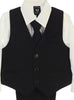 Boys Black Pinstripe Vest & Pants Set w. Ivory Shirt 8571