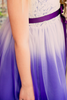 Purple Ombre Dyed Tulle Dress with Ribbon Bodice Girls (322)