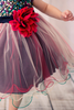 Red & Black Sequins & 3 Layers Tulle Dress Baby Girls (328)