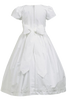 White Smocked Cotton Girls Communion Dress w. Short Sleeves  SP108