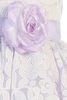Girls Lilac & White Floral Lace Dress with Shantung Sash 6M-10
