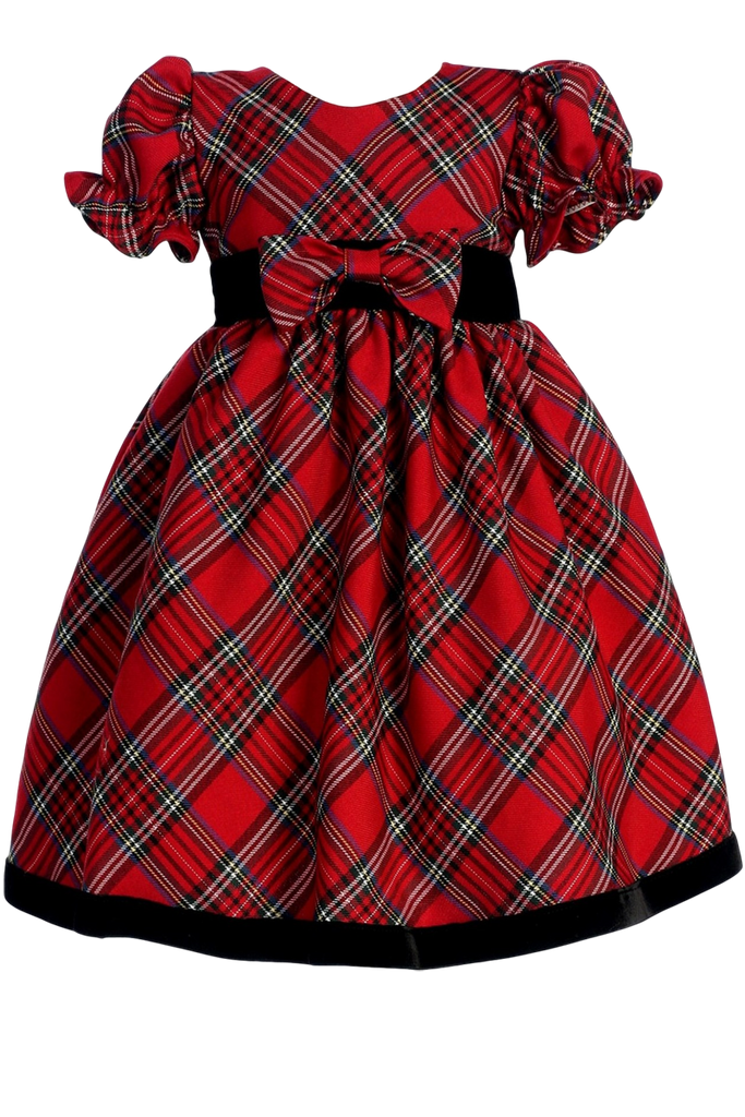 Red Amp Green Plaid Girls Holiday Dress W Ruffle Sleeves 3m