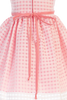 Coral Satin & Burnout Organza Overlay Easter Spring Dress (Baby 6 months - Girls Size 12)
