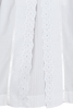Split Front & Lace Cotton Handmade Christening Gown (CO38GS)