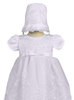 Tiered Embroidered Organza Infant Girls Christening Gown w. Sequins  Arlene