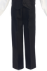 Black 4-pc Boys Vest & Pants Dresswear Set  G823