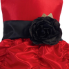 BLACK - BL90P POLY SILK SASH & FLOWER PIN