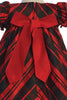BACK of Plaid Baby Girls Holiday Dress w Velvet Front Bow C537