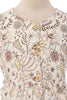 Yellow & Brown Floral Bird Print Girls Cotton Dress C117