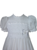 "Baby Girls Cotton 30"" Handmade Christening Gown w. Cluny Lace Trim  CA25GS"