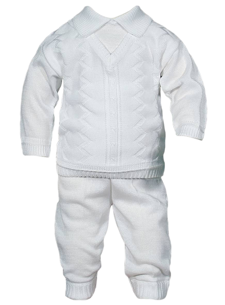Boys 100% Cotton Knit Sweater & Pants Set  CKNIT2