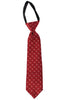 Boys Red Geometric Medallion Multi-Texture Zipper Tie  LCT6