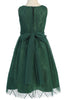 Girls Green Mesh Gatsby Dress with Glittering Gold Deco Pattern KDC102