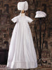 Pintucked Silk Handmade Unisex Christening Gown w. 2 Hats Girls Boys  DPF50G