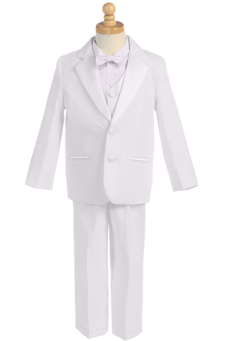Dinner Jacket 2 Button Tuxedo with Vest & Bow Tie Color Choice (Boys 3 months - size 14)