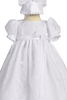 Flower Embroidered Girls Tulle Christening Gown & Bonnet  Emma