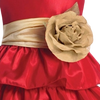 GOLD - BL90P POLY SILK SASH & FLOWER PIN