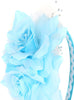 Light Blue Girls Organza & Satin Double Flower Headband HB030