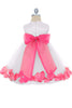 Fuchsia Flower Girls Satin & Tulle Petal Dress w. Organza Sash KD160-SASH