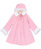 Pink Fleece & White Fur Trimmed Infant Girls Dress Coat w. Hat KD166