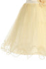 Girls Gold Sequin Party Dress w. Lettuce Tulle Hem KD305