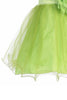 Baby Girls Lime Green Sequin Party Dress with Lettuce Tulle Hem KD305