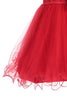 Baby Girls Red Sequin Party Dress with Lettuce Tulle Hem KD315
