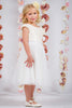 Ivory Sequined Cap Sleeve Girls Dress w. Mesh Skirt 2T-12  KD410