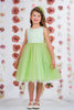 Green Layered Tulle Girls Dress w. Bridal Lace Bodice 2T-12  KD414