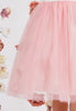 Girls Rose Pink Layered Tulle Dress w. Bridal Lace Bodice 2T-12  KD414