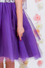 Girls Purple Layered Tulle Dress w. Bridal Lace Bodice 3M-24M  KD414