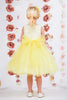 Girls Yellow Layered Tulle Dress w. Bridal Lace Bodice 2T-12  KD414