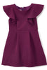 Purple Flutter Skater Dress with Pleated Skirt Girls KD436